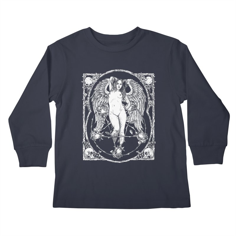 Dynamite and Roses Kids Longsleeve T-Shirt by Sp3ktr's Artist Shop