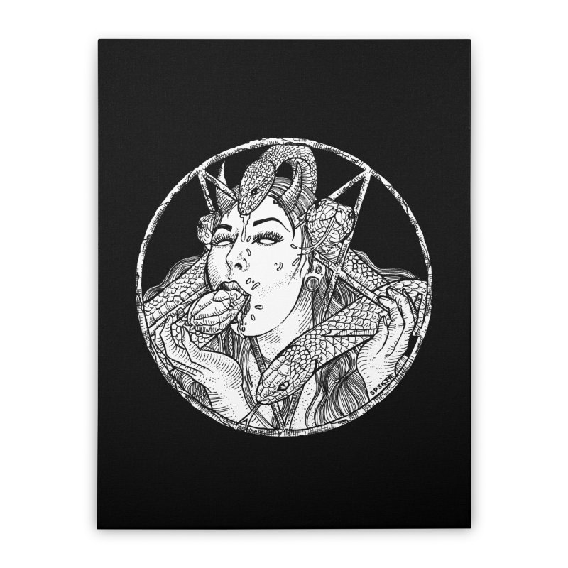 Snake Charmer Home Stretched Canvas by sp3ktr's Artist Shop