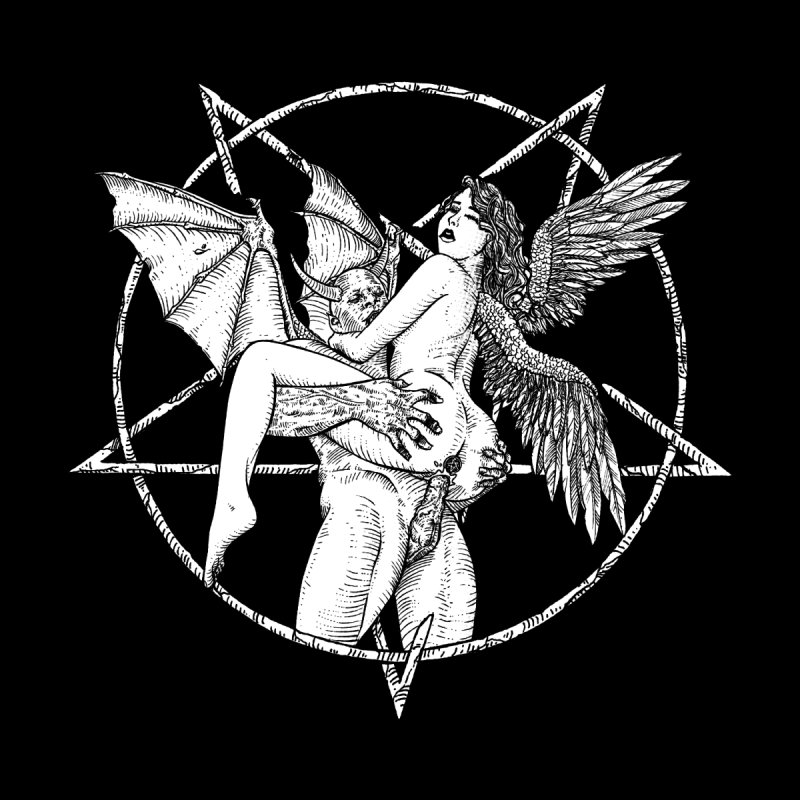 demonic cuddle sesh heavy metal occult by sp3ktr's Artist Shop
