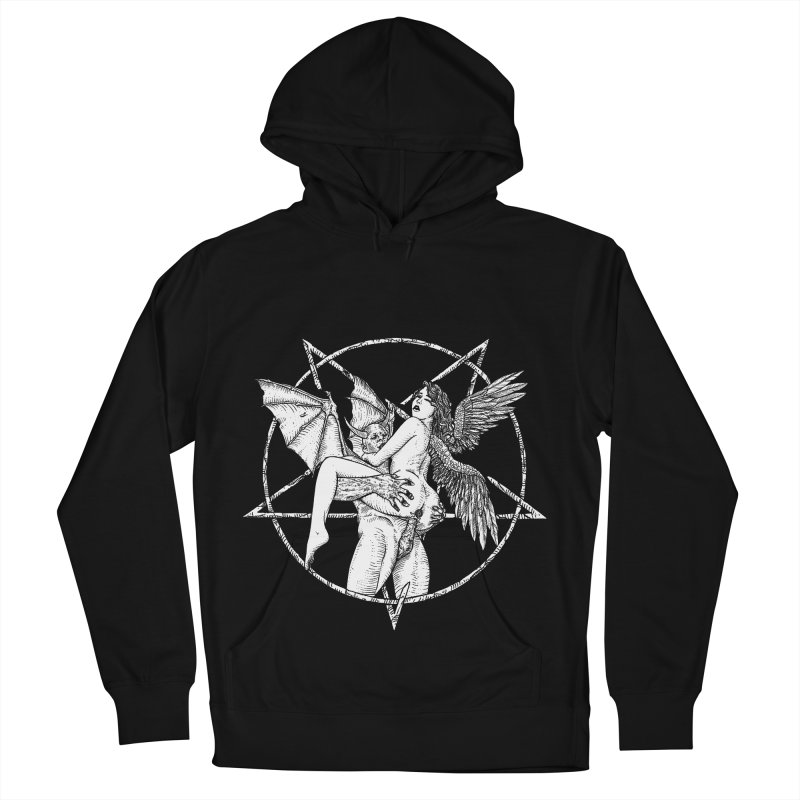 demonic cuddle sesh heavy metal occult Women's French Terry Pullover Hoody by sp3ktr's Artist Shop