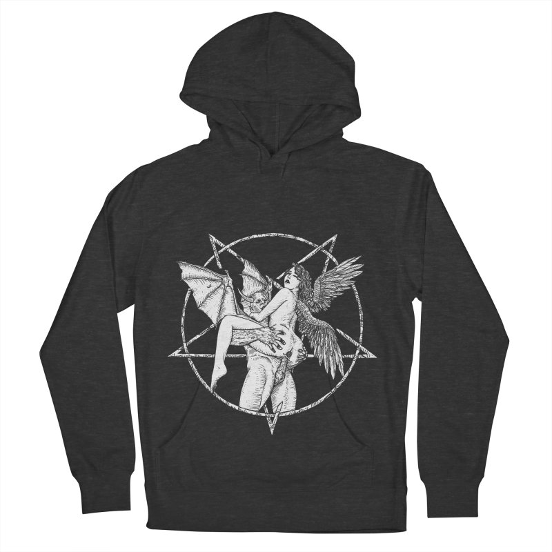 demonic cuddle sesh heavy metal occult Men's French Terry Pullover Hoody by sp3ktr's Artist Shop