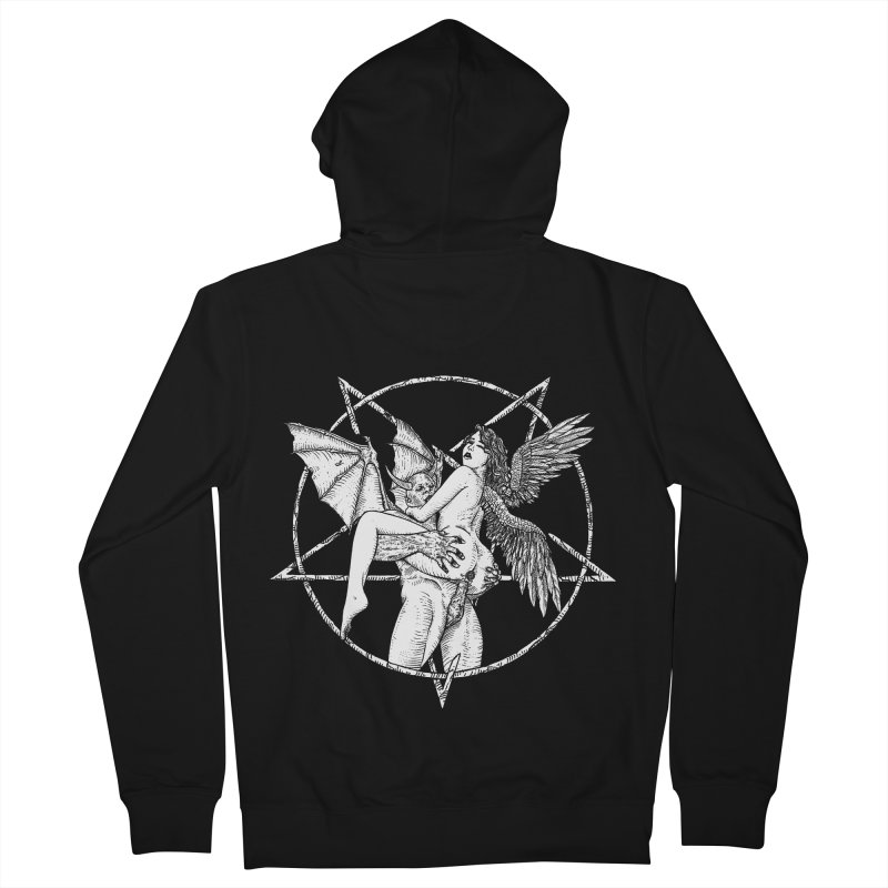 demonic cuddle sesh heavy metal occult Women's French Terry Zip-Up Hoody by sp3ktr's Artist Shop