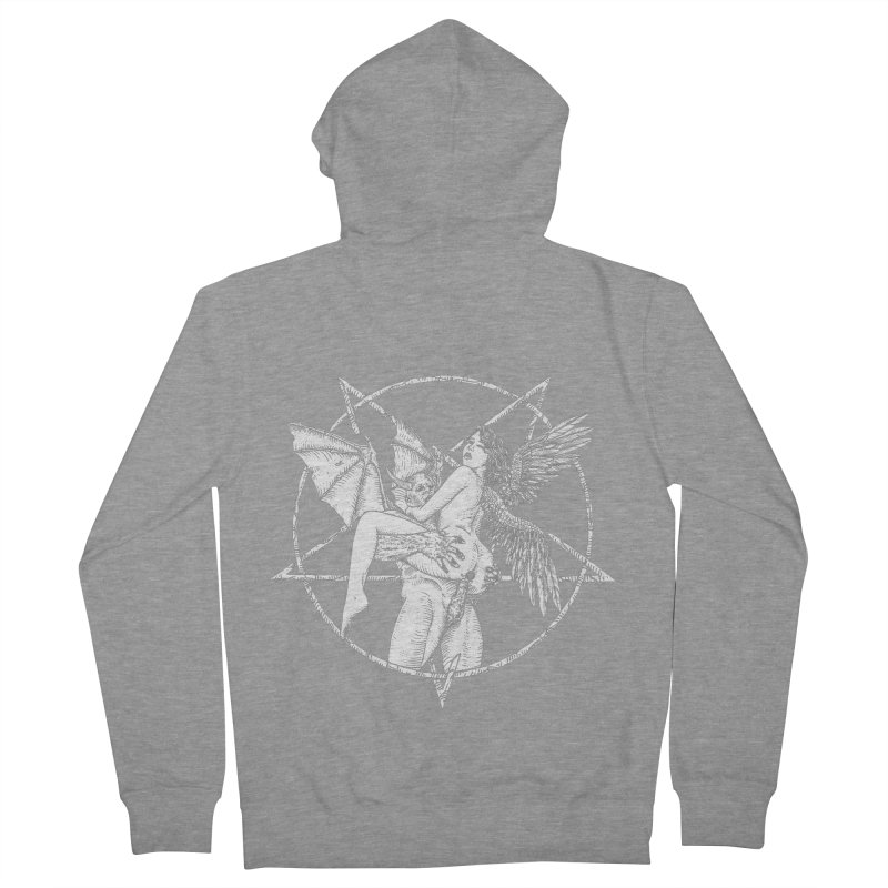 demonic cuddle sesh heavy metal occult Men's French Terry Zip-Up Hoody by sp3ktr's Artist Shop