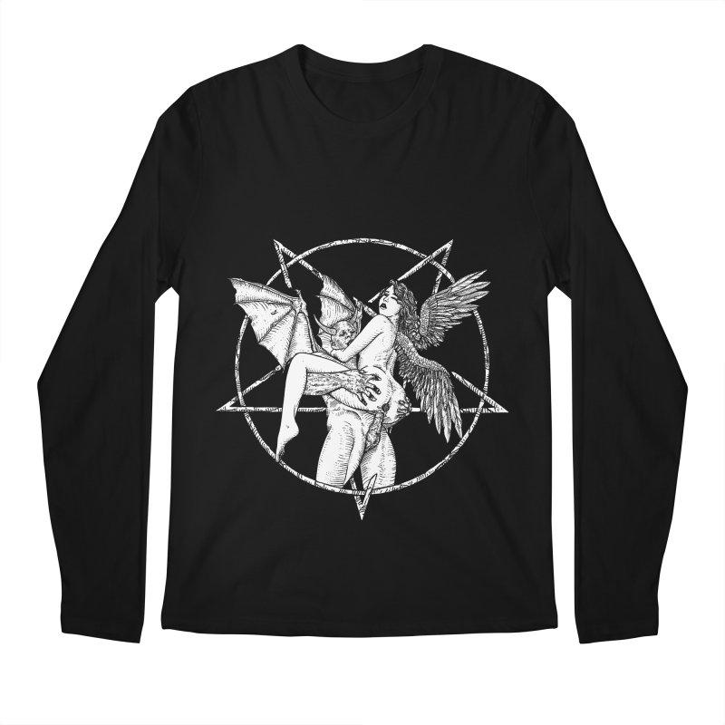 demonic cuddle sesh heavy metal occult Men's Regular Longsleeve T-Shirt by sp3ktr's Artist Shop