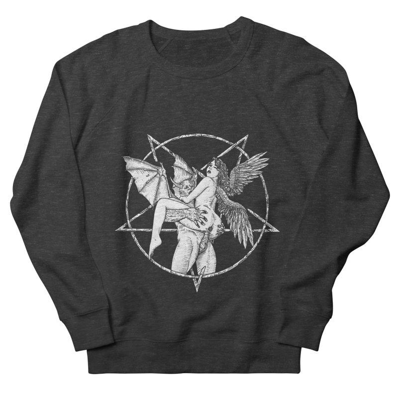 demonic cuddle sesh heavy metal occult Men's French Terry Sweatshirt by sp3ktr's Artist Shop