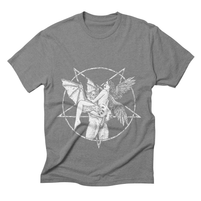 demonic cuddle sesh heavy metal occult Men's Triblend T-Shirt by sp3ktr's Artist Shop