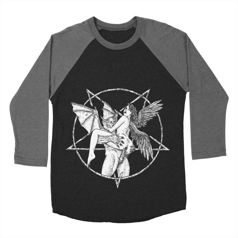 demonic cuddle sesh heavy metal occult Men's Baseball Triblend Longsleeve T-Shirt by sp3ktr's Artist Shop