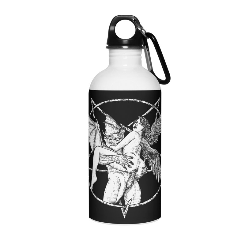 demonic cuddle sesh heavy metal occult Accessories Water Bottle by sp3ktr's Artist Shop