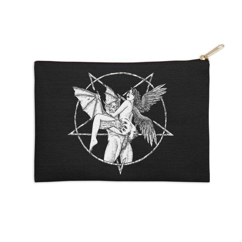demonic cuddle sesh heavy metal occult Accessories Zip Pouch by sp3ktr's Artist Shop