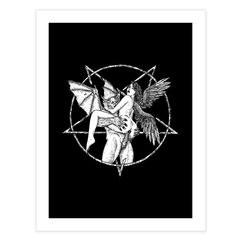 demonic cuddle sesh heavy metal occult Home Fine Art Print by sp3ktr's Artist Shop