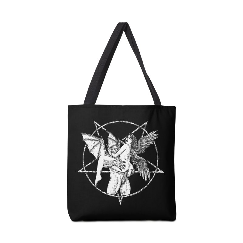 demonic cuddle sesh heavy metal occult Accessories Bag by sp3ktr's Artist Shop