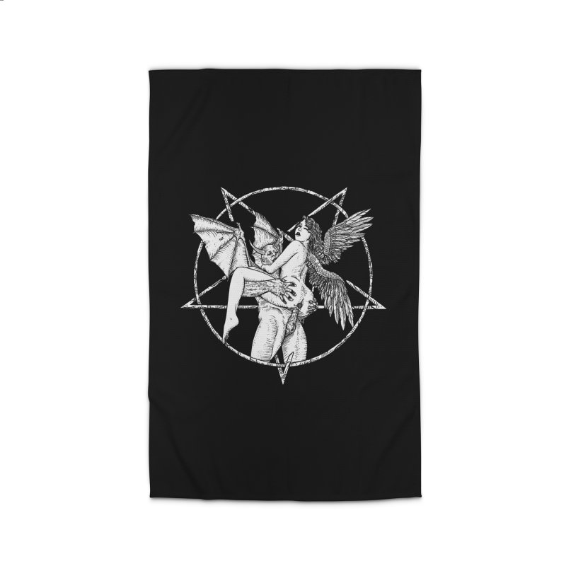 demonic cuddle sesh heavy metal occult Home Rug by sp3ktr's Artist Shop
