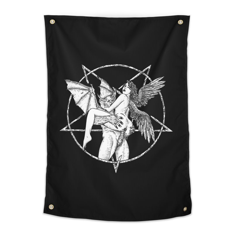 demonic cuddle sesh heavy metal occult Home Tapestry by sp3ktr's Artist Shop