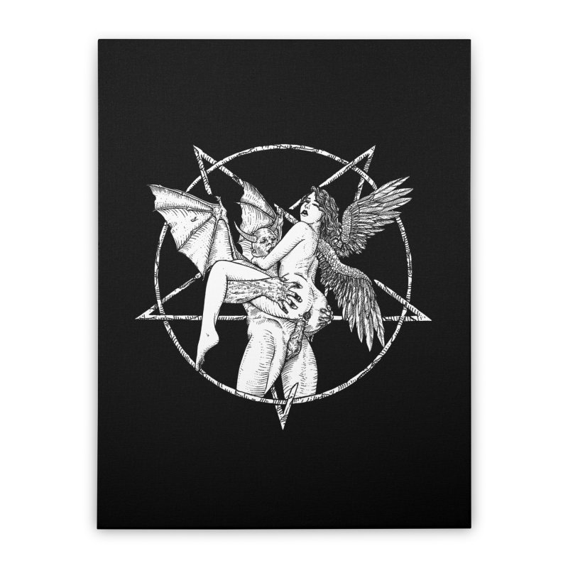 demonic cuddle sesh heavy metal occult Home Stretched Canvas by sp3ktr's Artist Shop