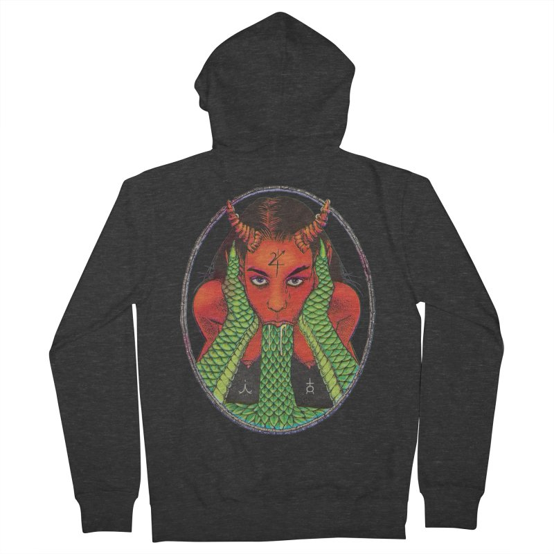 Demon embrace Women's French Terry Zip-Up Hoody by sp3ktr's Artist Shop