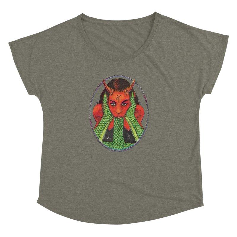 Demon embrace Women's Dolman Scoop Neck by sp3ktr's Artist Shop
