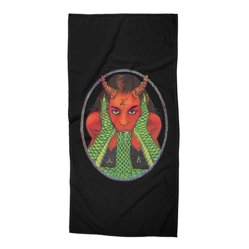 Demon embrace Accessories Beach Towel by Sp3ktr's Artist Shop