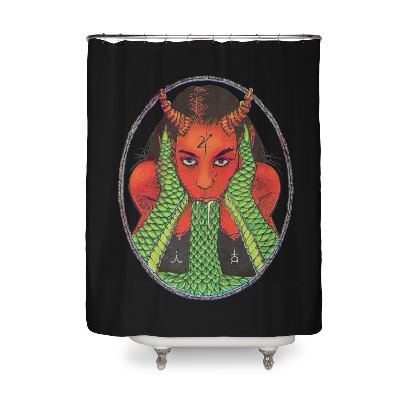 Demon embrace Home Shower Curtain by Sp3ktr's Artist Shop