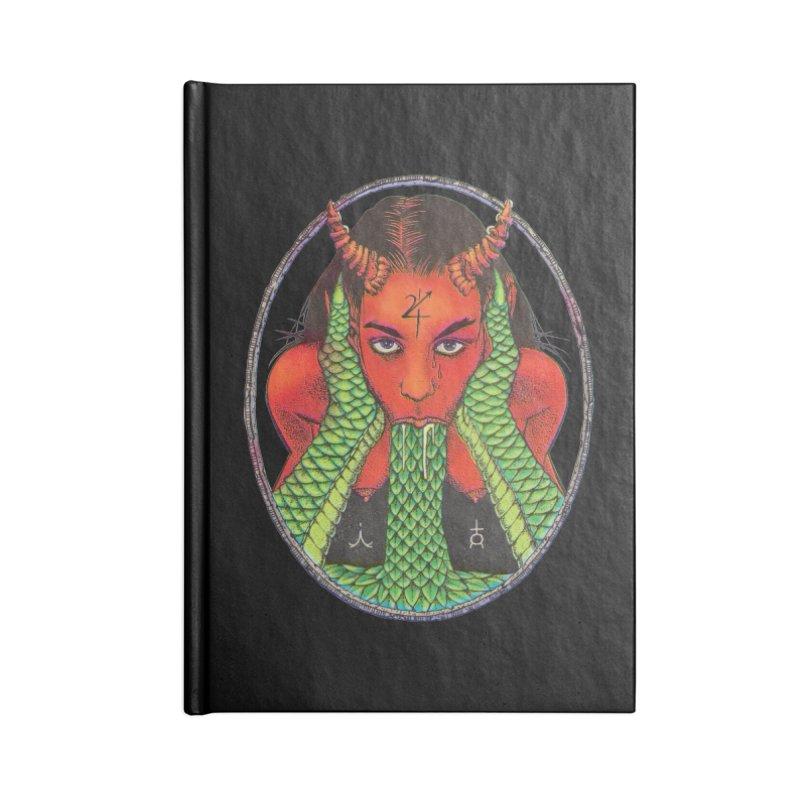 Demon embrace Accessories Lined Journal Notebook by Sp3ktr's Artist Shop