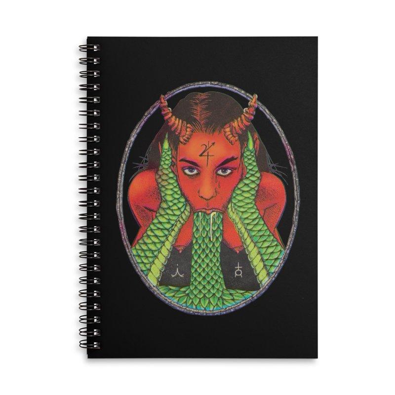 Demon embrace Accessories Lined Spiral Notebook by Sp3ktr's Artist Shop