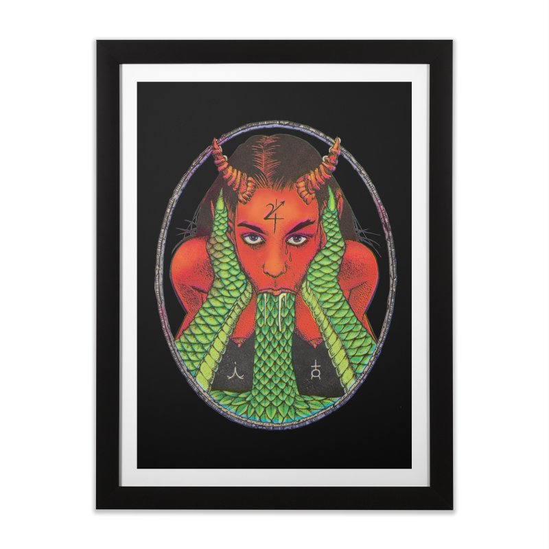 Demon embrace Home Framed Fine Art Print by Sp3ktr's Artist Shop