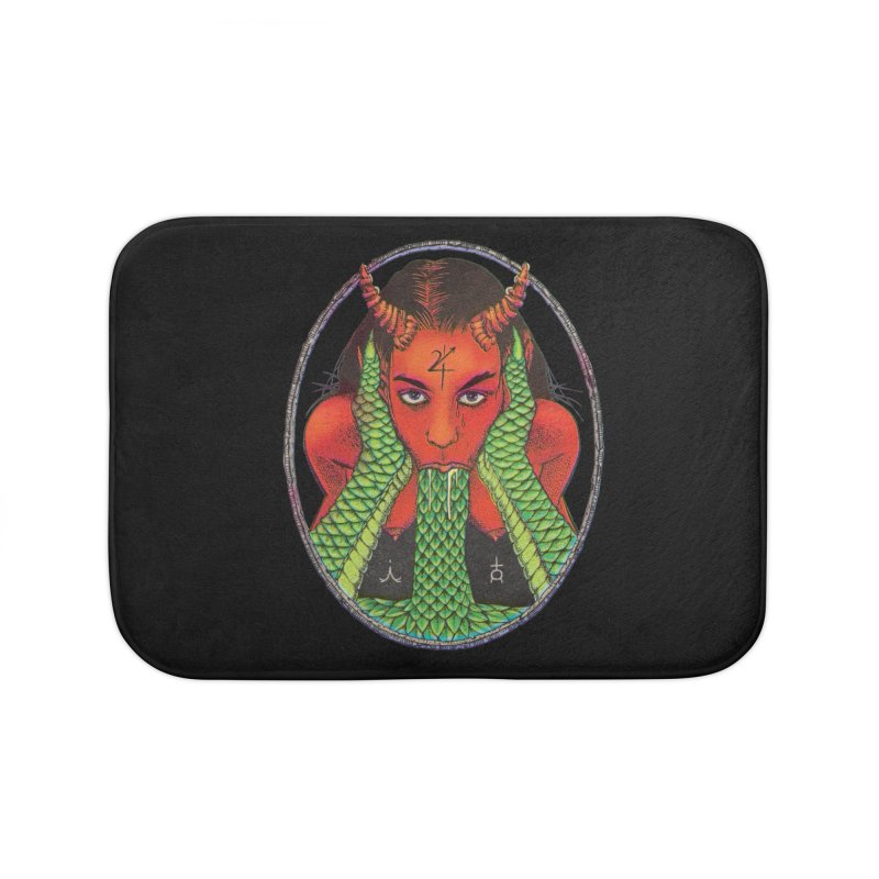 Demon embrace Home Bath Mat by Sp3ktr's Artist Shop