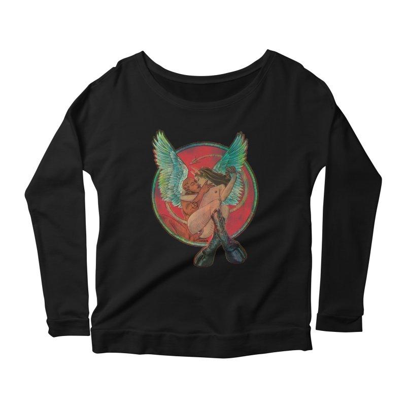 We can be heroes Women's Scoop Neck Longsleeve T-Shirt by sp3ktr's Artist Shop