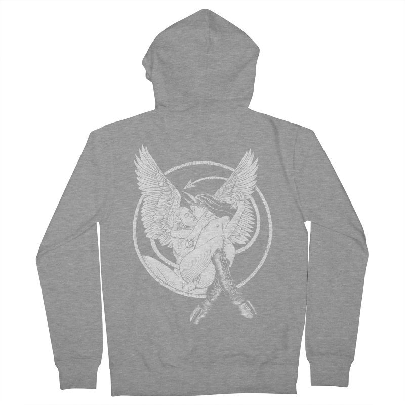Devil lust black and white Women's French Terry Zip-Up Hoody by sp3ktr's Artist Shop