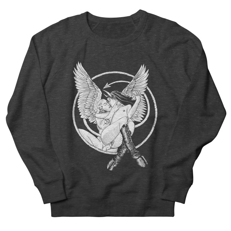 Devil lust black and white Women's French Terry Sweatshirt by sp3ktr's Artist Shop