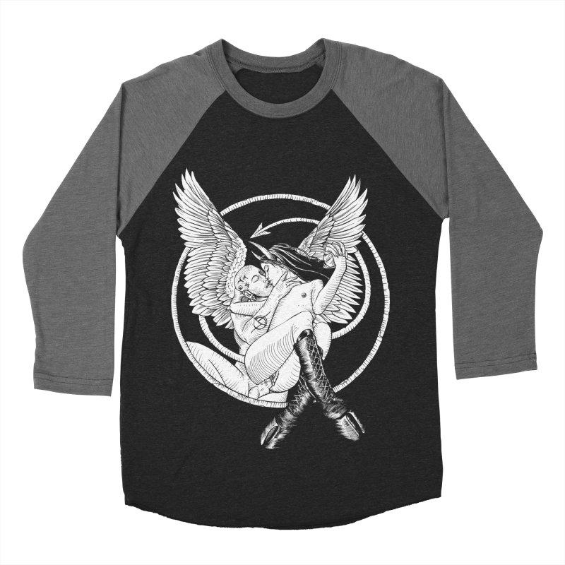 Devil lust black and white Men's Baseball Triblend Longsleeve T-Shirt by sp3ktr's Artist Shop
