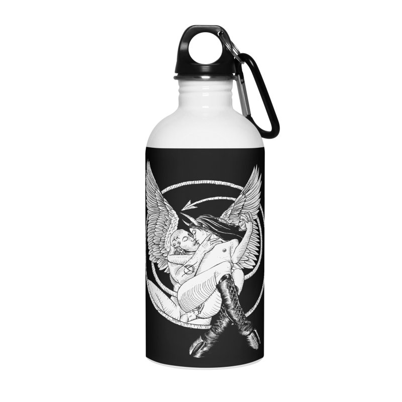 Devil lust black and white Accessories Water Bottle by Sp3ktr's Artist Shop