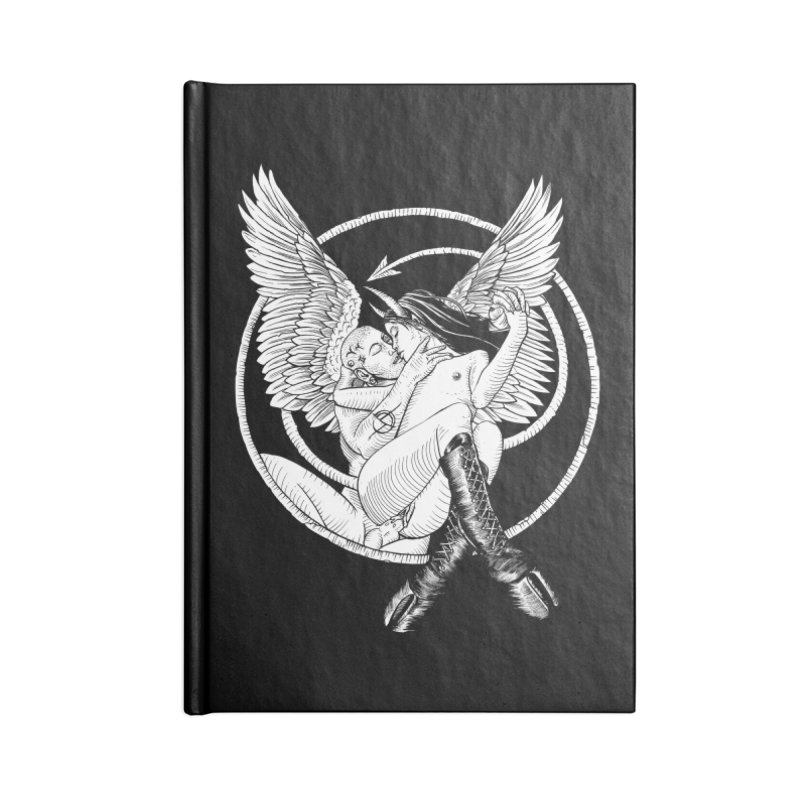 Devil lust black and white Accessories Lined Journal Notebook by Sp3ktr's Artist Shop