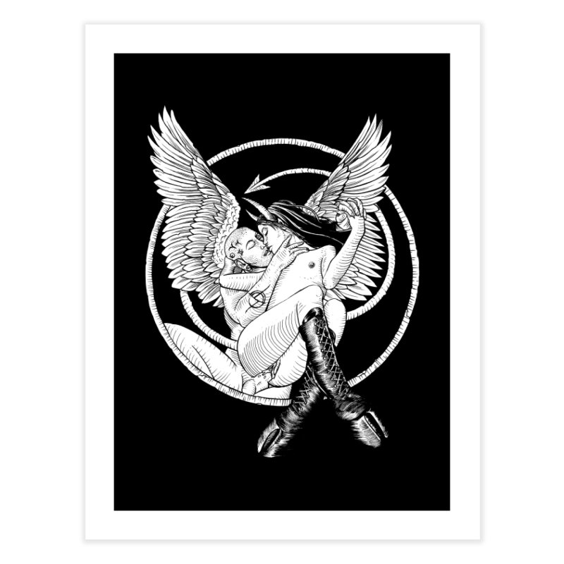 Devil lust black and white Home Fine Art Print by sp3ktr's Artist Shop