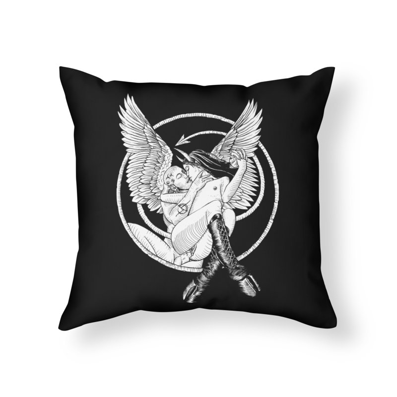 Devil lust black and white Home Throw Pillow by Sp3ktr's Artist Shop
