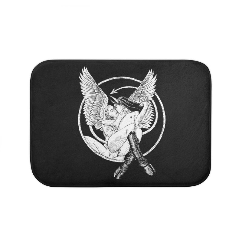Devil lust black and white Home Bath Mat by Sp3ktr's Artist Shop