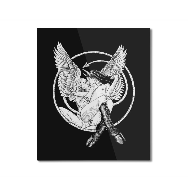 Devil lust black and white Home Mounted Aluminum Print by sp3ktr's Artist Shop