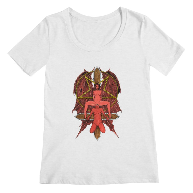 EVIL GFs Women's Regular Scoop Neck by sp3ktr's Artist Shop