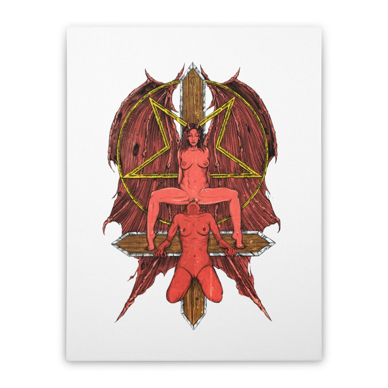 EVIL GFs Home Stretched Canvas by Sp3ktr's Artist Shop
