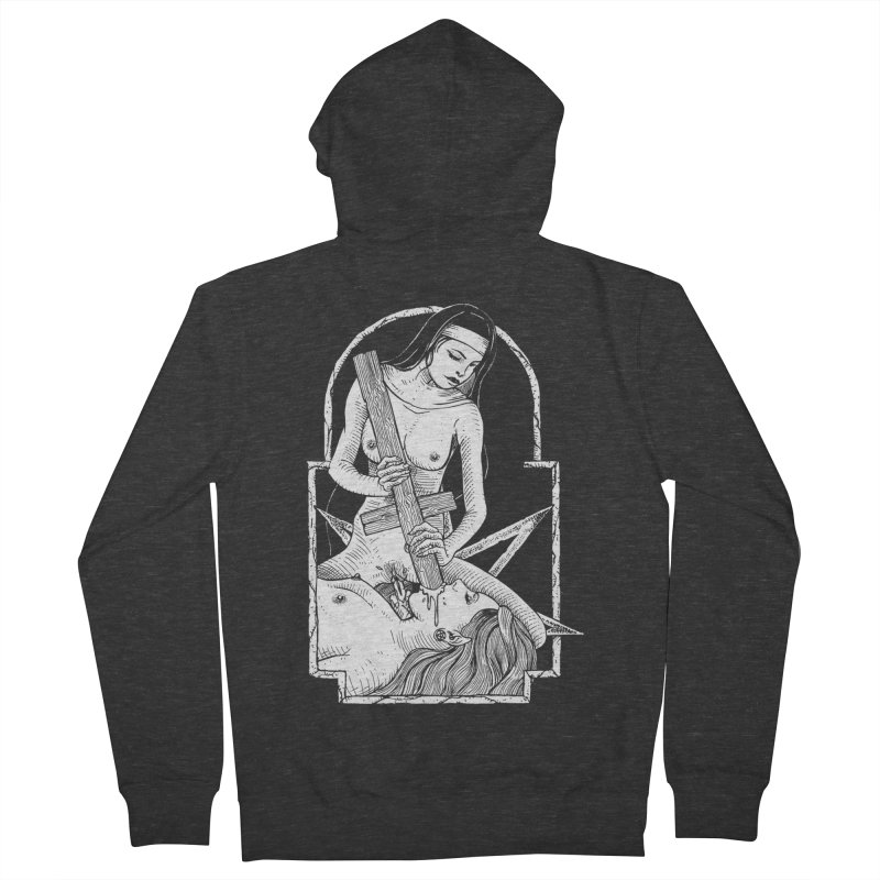 Nun of yer business Women's French Terry Zip-Up Hoody by sp3ktr's Artist Shop