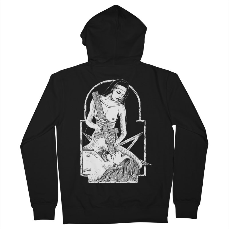 Nun of yer business Men's French Terry Zip-Up Hoody by sp3ktr's Artist Shop