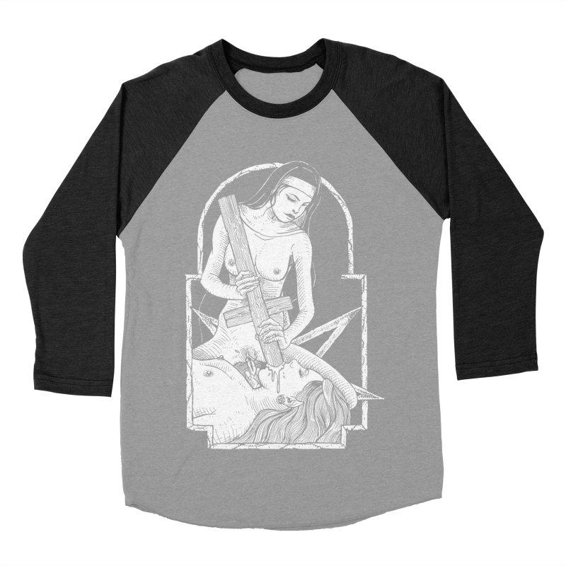 Nun of yer business Men's Baseball Triblend Longsleeve T-Shirt by sp3ktr's Artist Shop