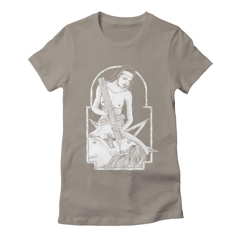 Nun of yer business Women's Fitted T-Shirt by sp3ktr's Artist Shop