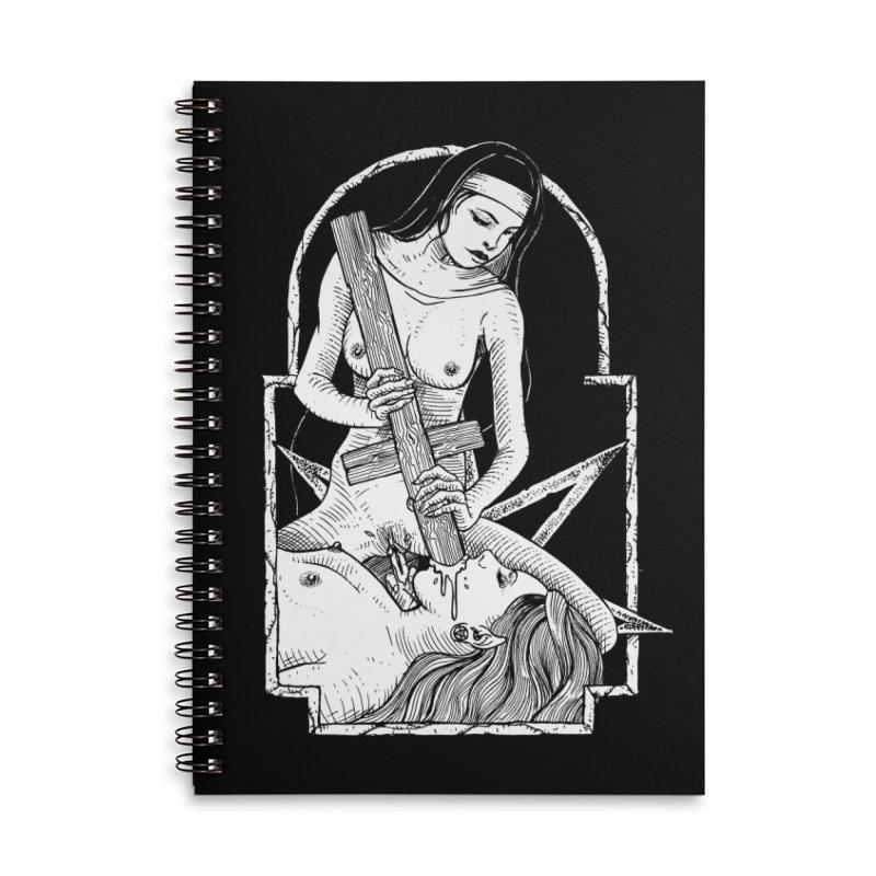 Nun of yer business Accessories Lined Spiral Notebook by Sp3ktr's Artist Shop