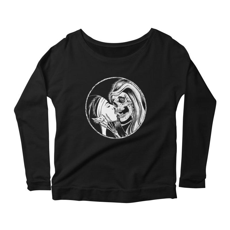 Kiss of death Women's Scoop Neck Longsleeve T-Shirt by sp3ktr's Artist Shop