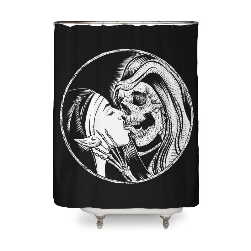 Kiss of death Home Shower Curtain by Sp3ktr's Artist Shop