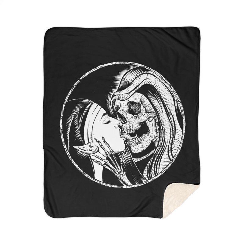 Kiss of death Home Sherpa Blanket Blanket by Sp3ktr's Artist Shop