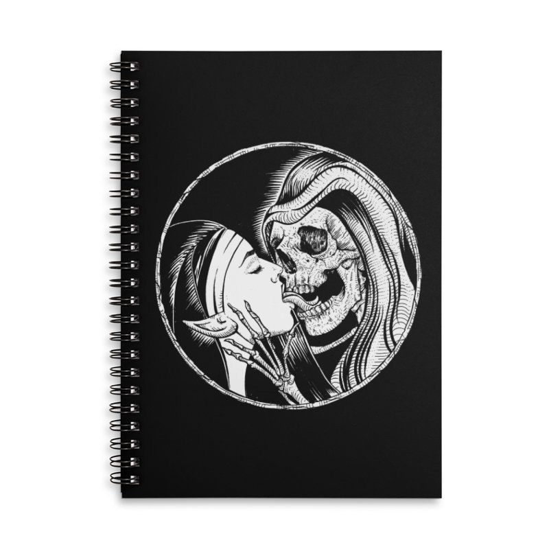 Kiss of death Accessories Lined Spiral Notebook by Sp3ktr's Artist Shop