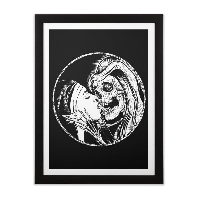 Kiss of death Home Framed Fine Art Print by Sp3ktr's Artist Shop