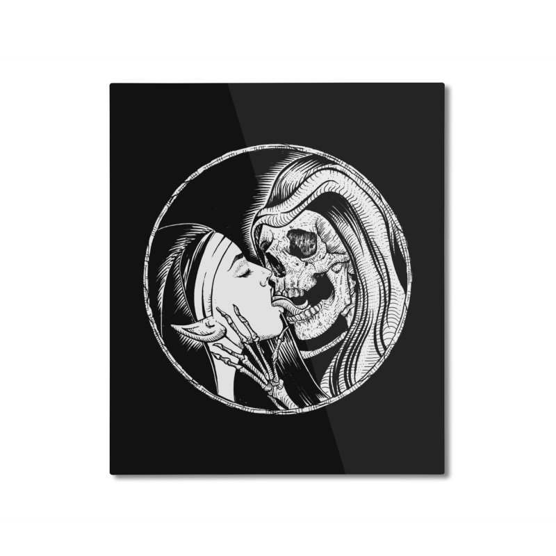 Kiss of death Home Mounted Aluminum Print by sp3ktr's Artist Shop