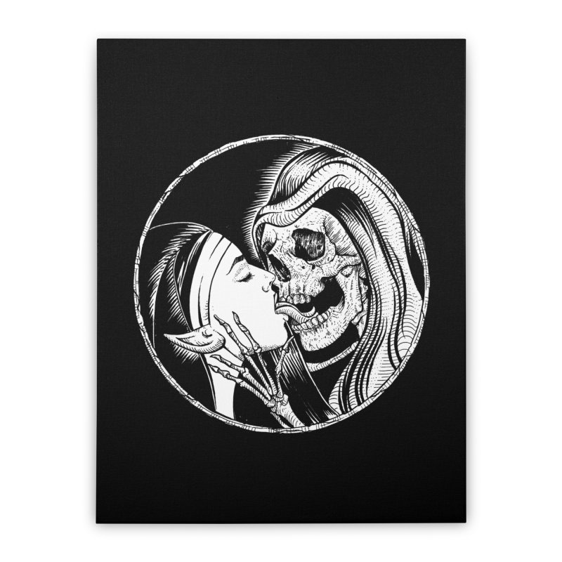 Kiss of death Home Stretched Canvas by sp3ktr's Artist Shop